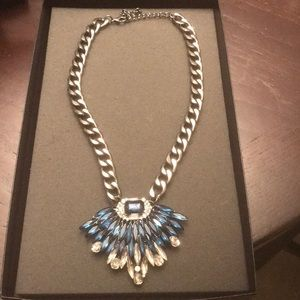 Jewelry - Blue and Crystal Pendant Necklace
